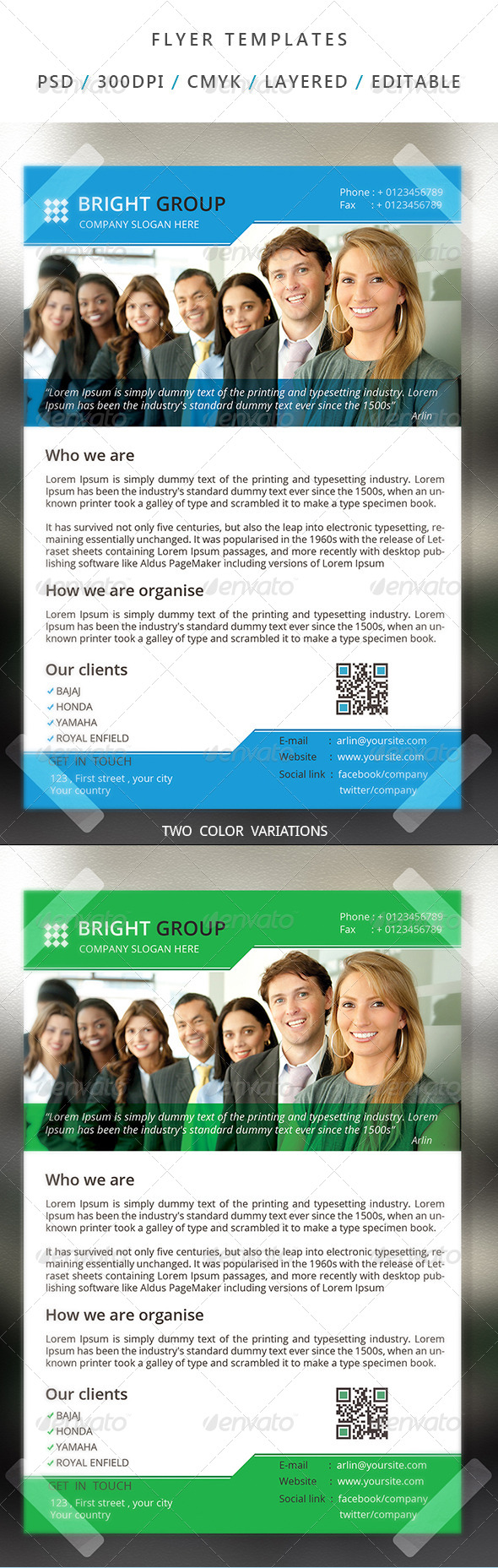 GraphicRiver Corporate Flyer Template 17 7062900