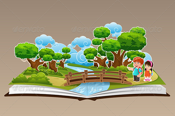 GraphicRiver Pop Up Book with a Forest Theme 7062918