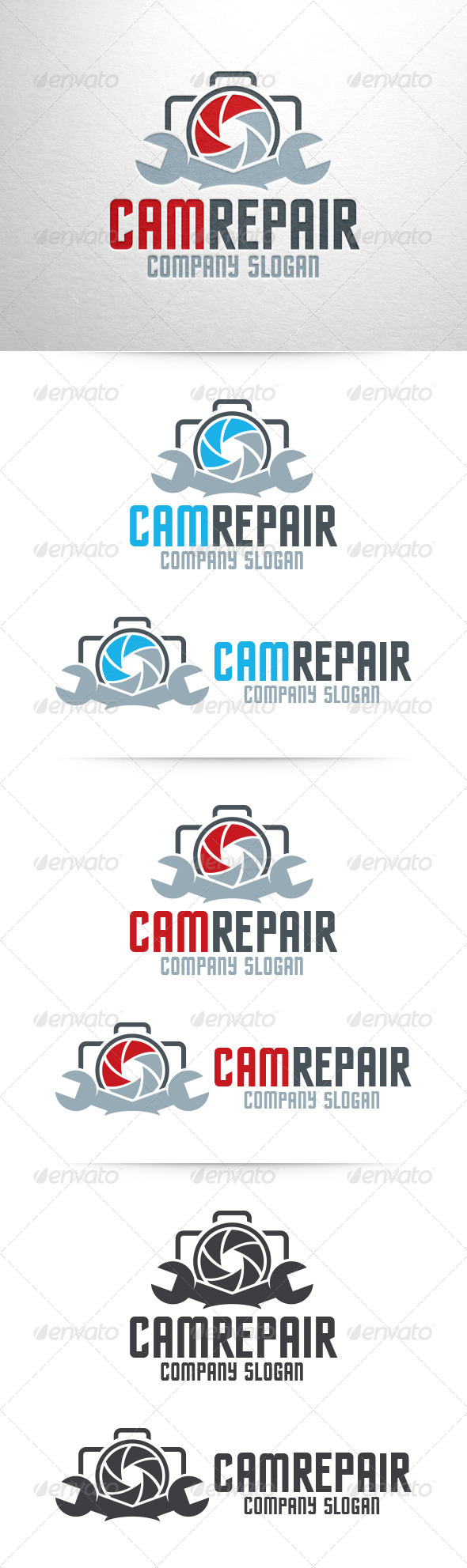 GraphicRiver Camera Repair Logo 7062920