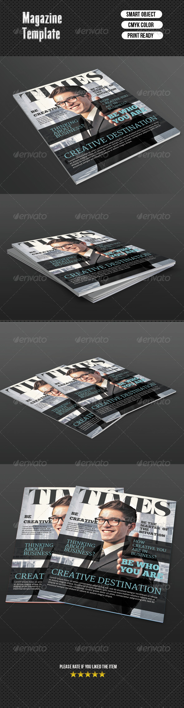 GraphicRiver Magazine Cover Template 7062938