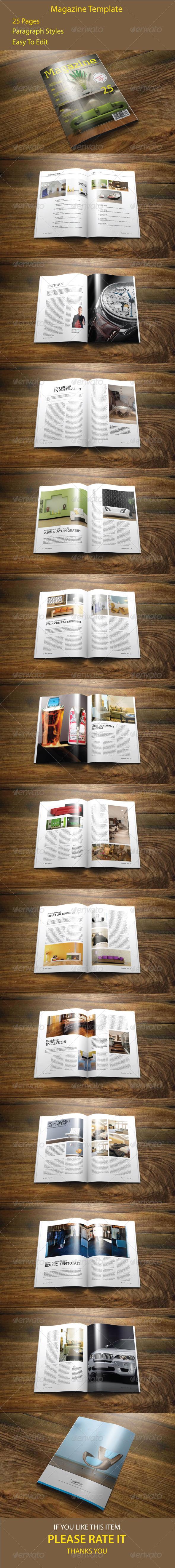 GraphicRiver Indesign Magazine Template 7062967