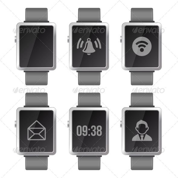 GraphicRiver Smart Watch Set 7063163