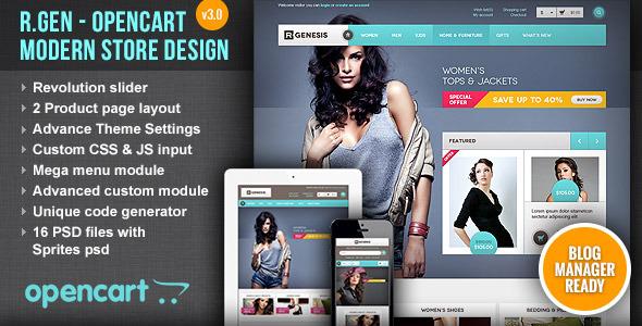 R.Gen - OpenCart Modern Store Design - OpenCart eCommerce