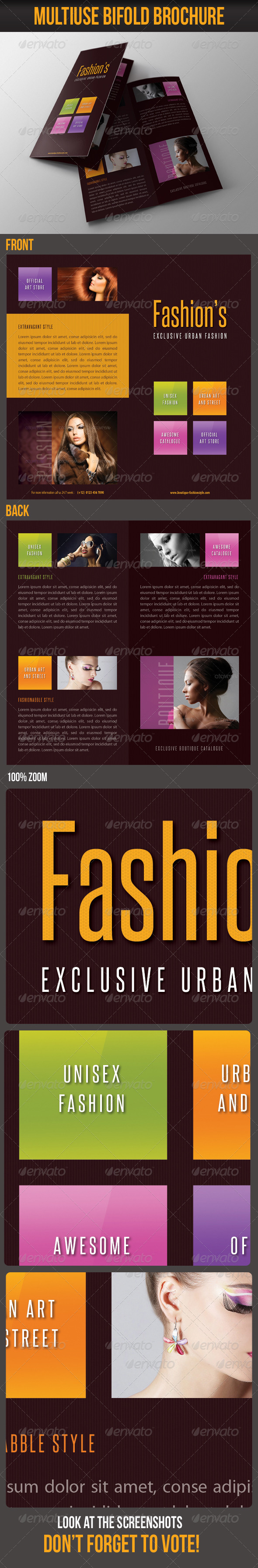 GraphicRiver Multiuse Bifold Brochure 54 7063295