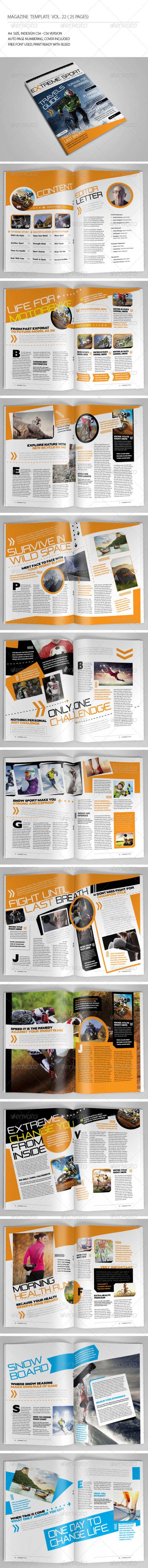GraphicRiver 25 Pages Sport Magazine Vol22 7063341
