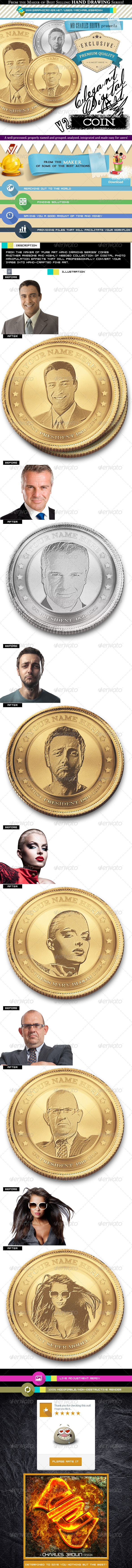 GraphicRiver Elegant Digital Art Imagining 2 Face on Coin 7049501