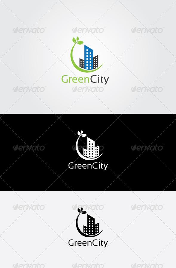 GraphicRiver Green Estate Logo 7064220