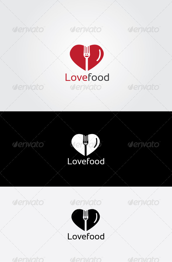 GraphicRiver Love Food Logo 7064345