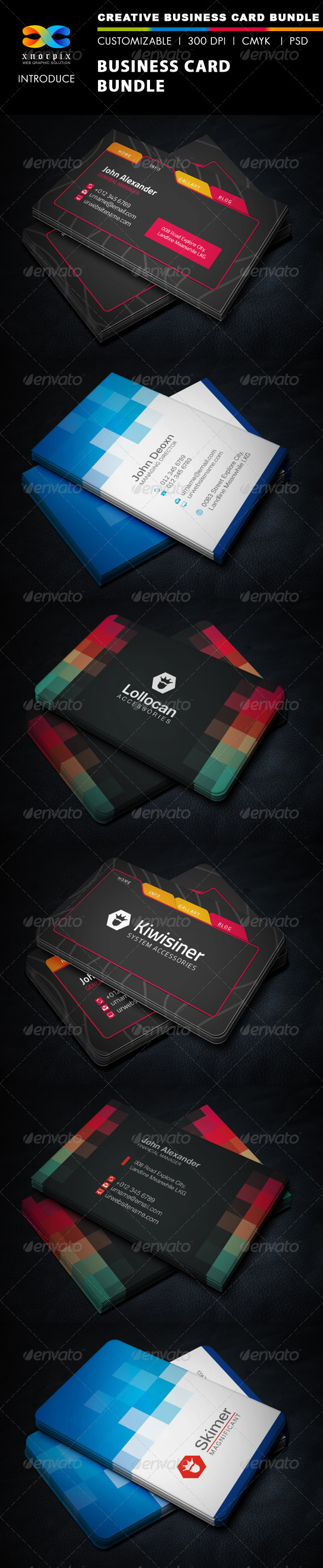 GraphicRiver Business Card Bundle 3 in 1-Vol 36 7064482