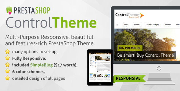 ThemeForest Control MultiPurpose Responsive PrestaShop Theme 7048341