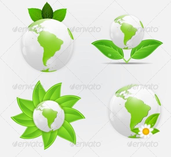 GraphicRiver Green Eco Planet Concept 7064925