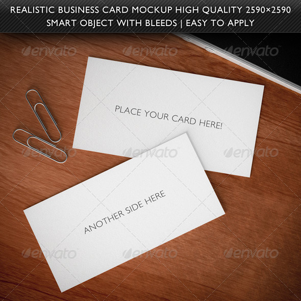 GraphicRiver Realistic 3D Business Card Mockup 736111
