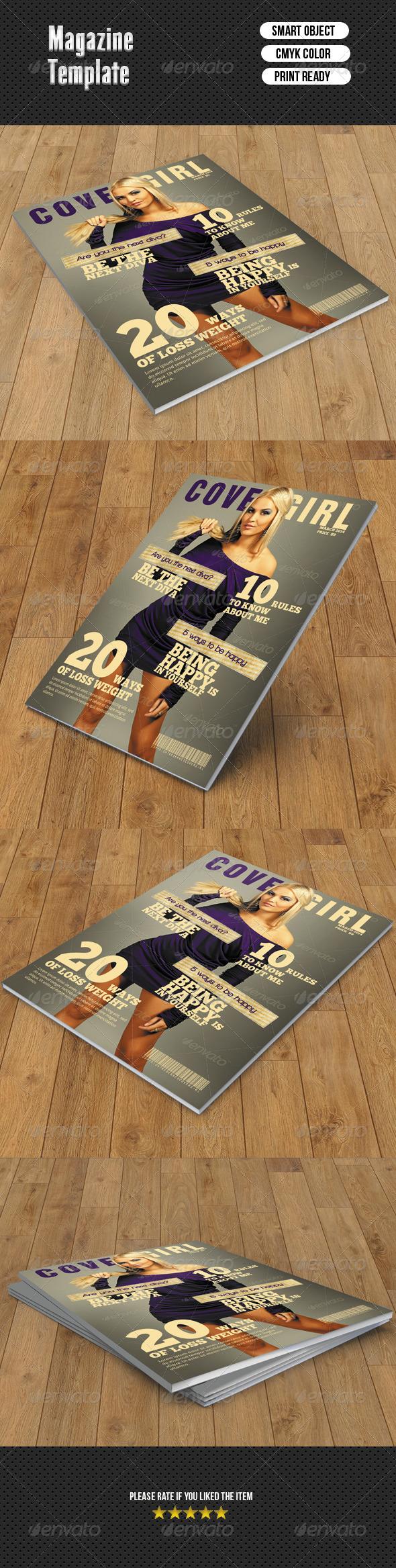 GraphicRiver Fashion Magazine Cover 7064972