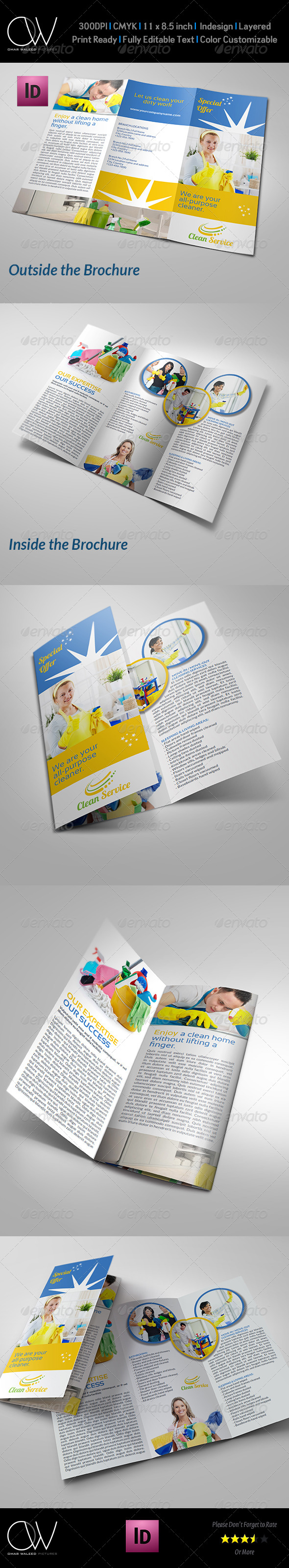 GraphicRiver Cleaning Services Company Brochure Tri-Fo Vol.2 7064986
