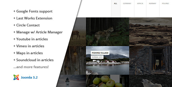 ThemeForest FULLSCREEN Photography Joomla Template 7040026