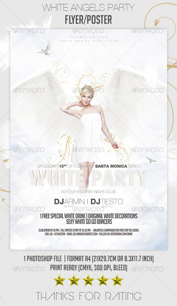 GraphicRiver White Angels Party Flyer Poster 7048141
