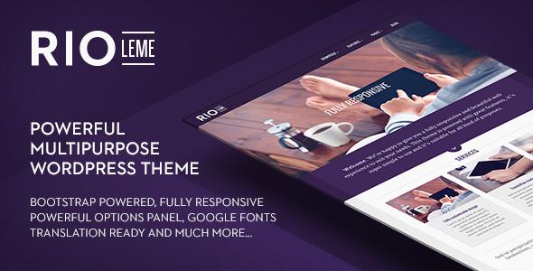 ThemeForest RioLeme Responsive Multi-Purpose WordPress Theme 7041517