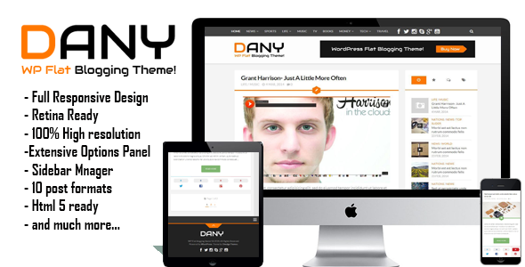 ThemeForest Dany Elegant WordPress Blogging Theme 7044039