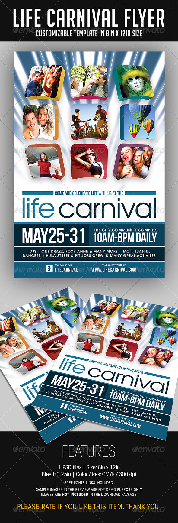 GraphicRiver Life Carnival Flyer 7065176