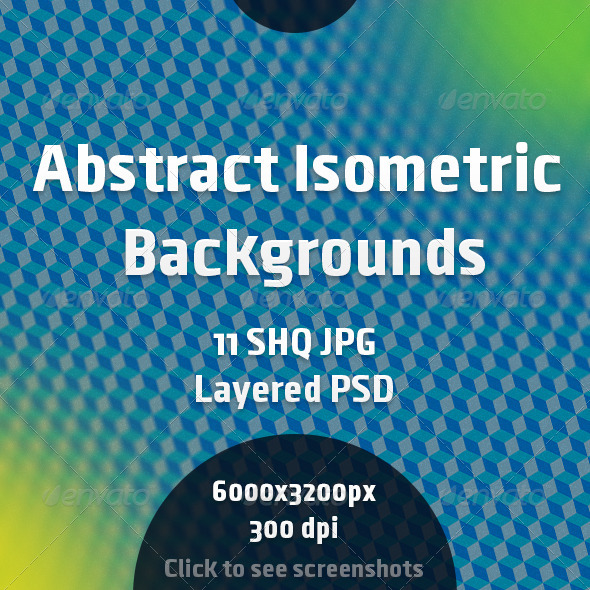 GraphicRiver Abstract Isometric Backgrounds 7065185