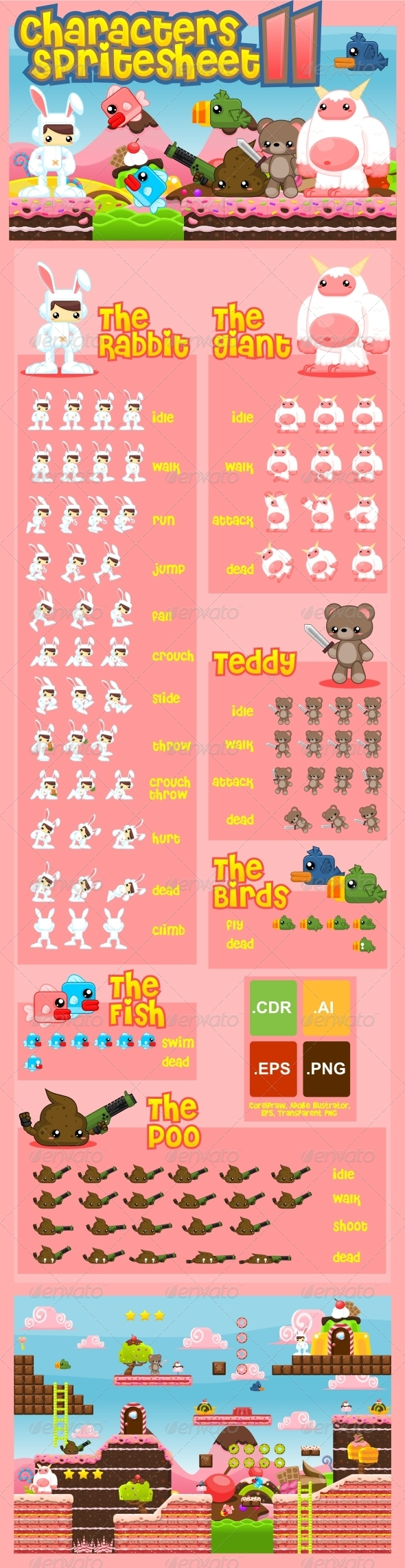 GraphicRiver Characters Spritesheet 11 7065212