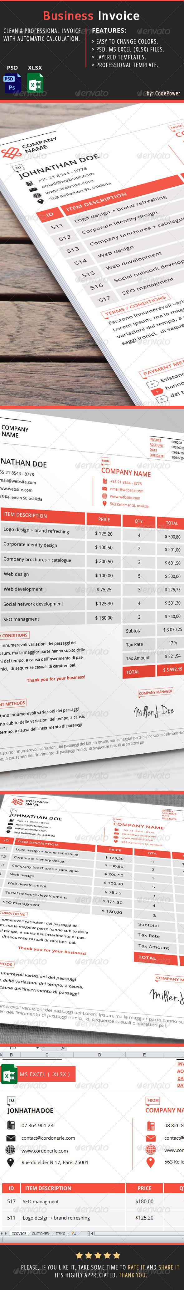GraphicRiver Business Invoice 7065799