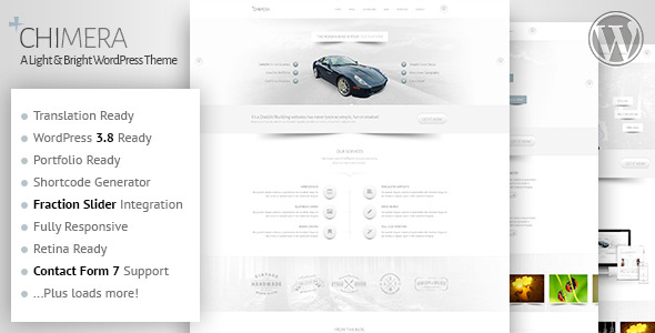 Chimera - A Light, Bright WordPress Theme