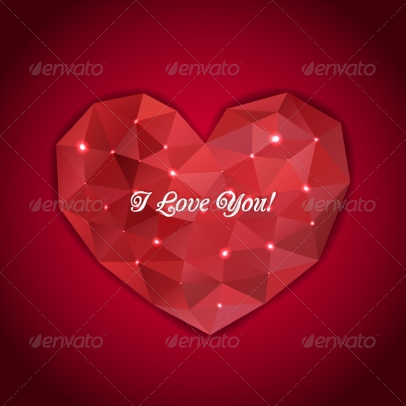 GraphicRiver Heart of Triangles 7065953