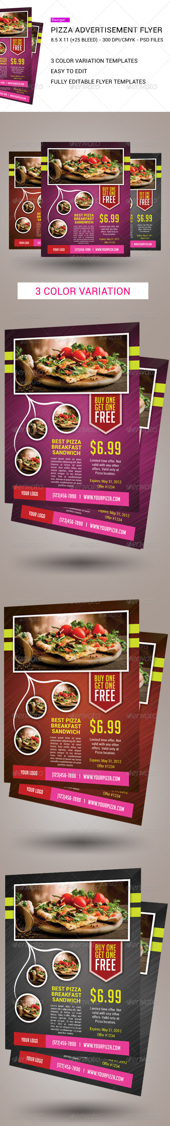 GraphicRiver Ultimate Pizza Flyers 7050195
