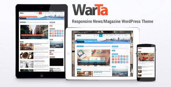 Warta is a responsive WordPress theme for news or magazine websites. Features Full Features Build with Bootstrap Powered with jQuery HTML5 and CSS3 Responsive l