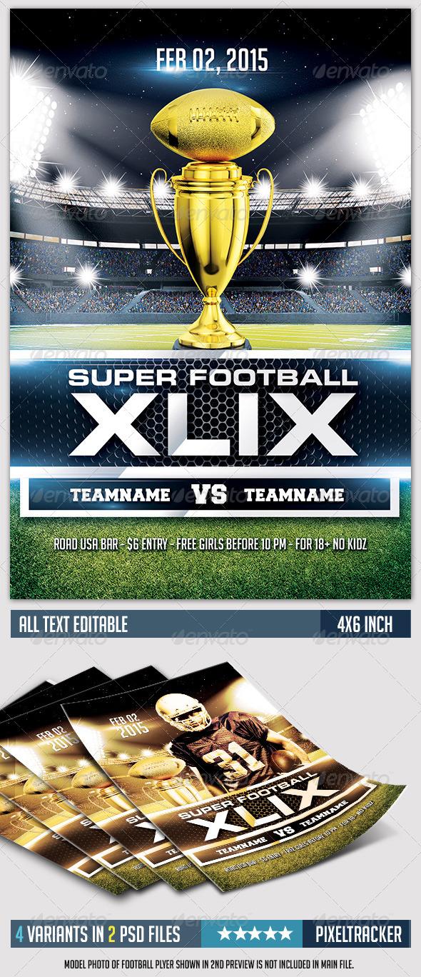 GraphicRiver Super Football XLIX Flyer Template 7046710