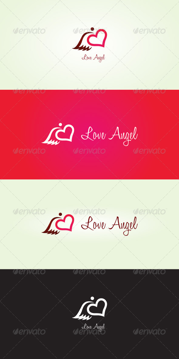 GraphicRiver Love Angel Stock Logo Template 7066154