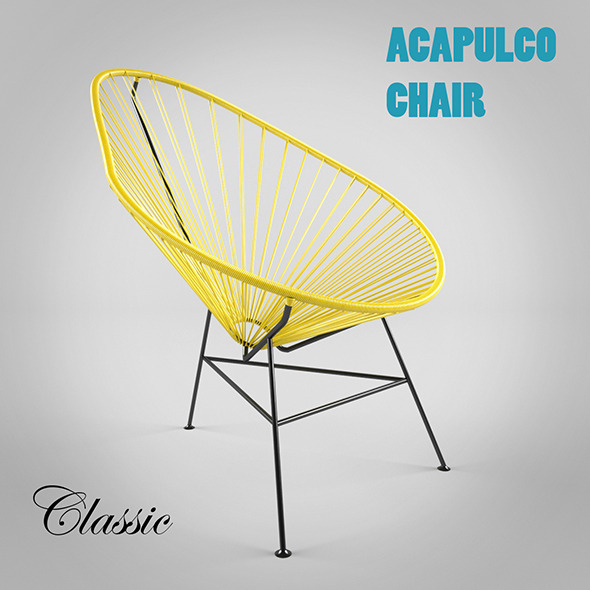 Acapulco Chair Classic - 3DOcean Item for Sale