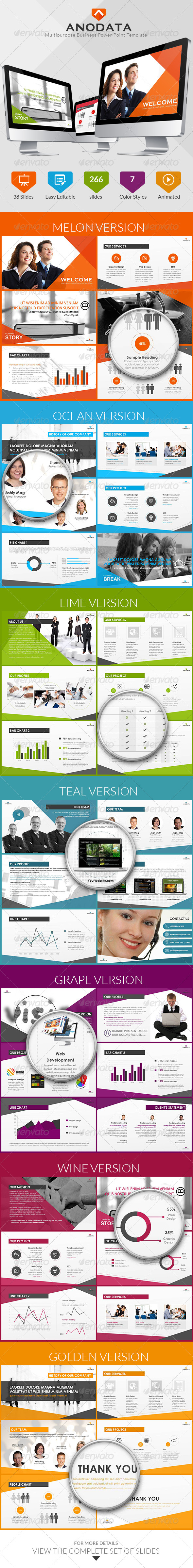 GraphicRiver Multipurpose Business Power Point Template 7023519
