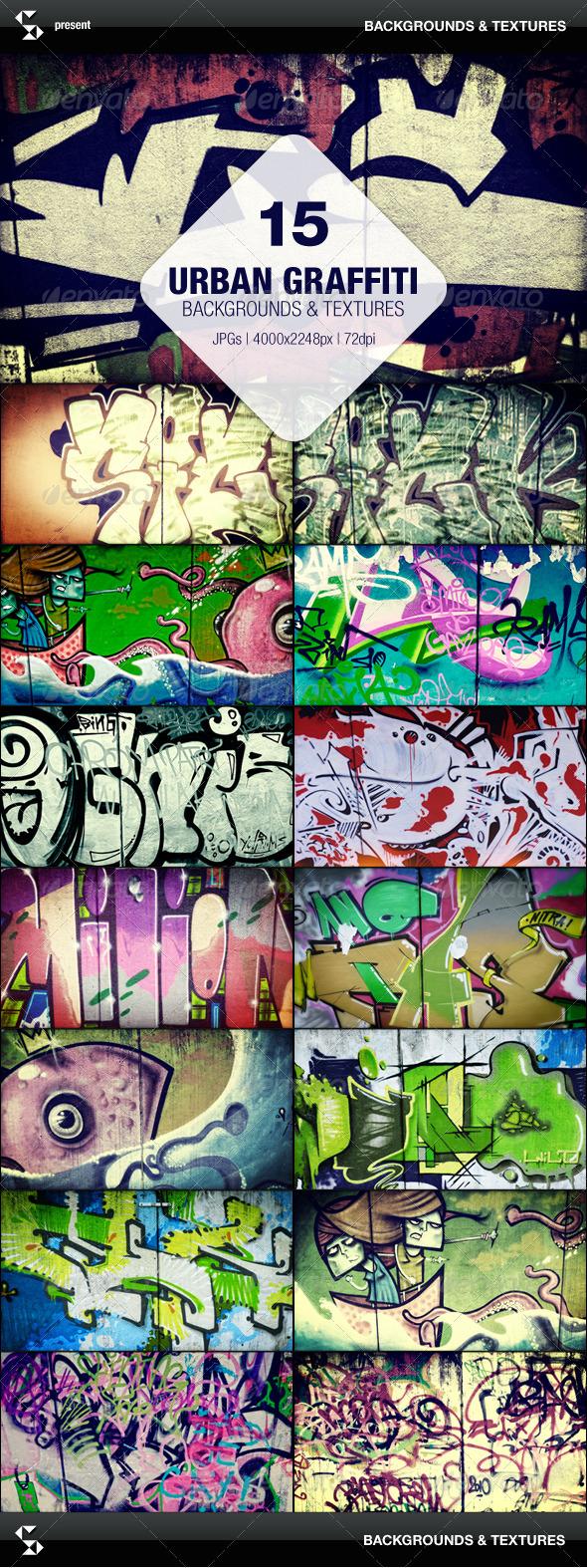 GraphicRiver 15 Urban Graffiti Backgrounds 7066318