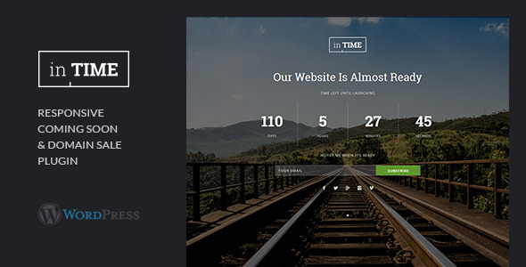 inTime - Domain Sale & Coming Soon WordpressPlugin - CodeCanyon Item for Sale