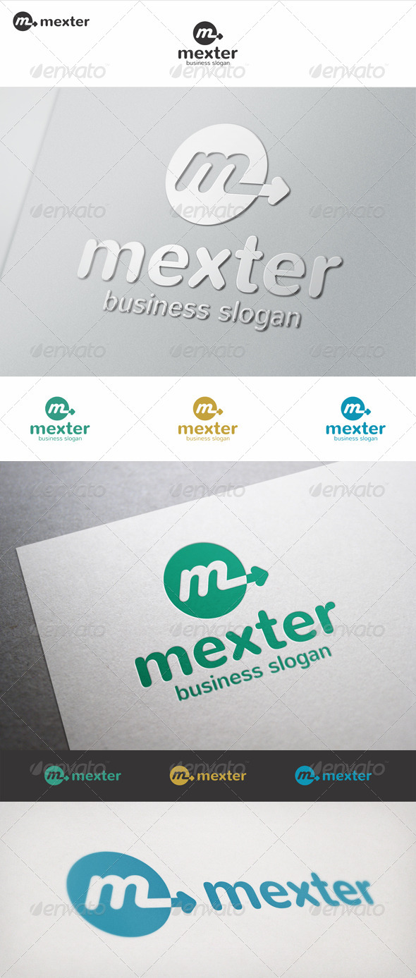 GraphicRiver Mexter M Arrow Logo 7066423