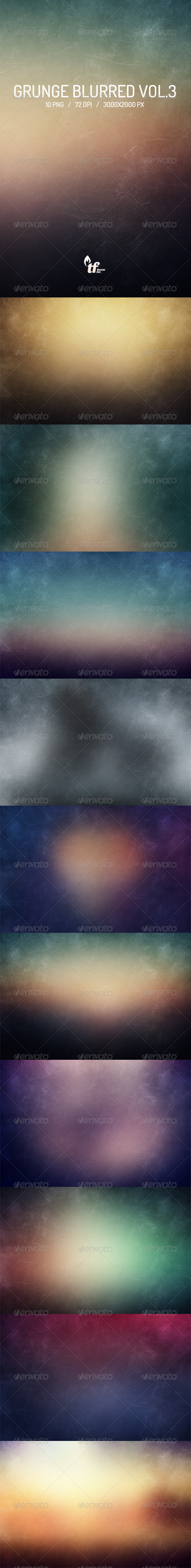 GraphicRiver Grunge Blurred Backgrounds Vol.3 7066594