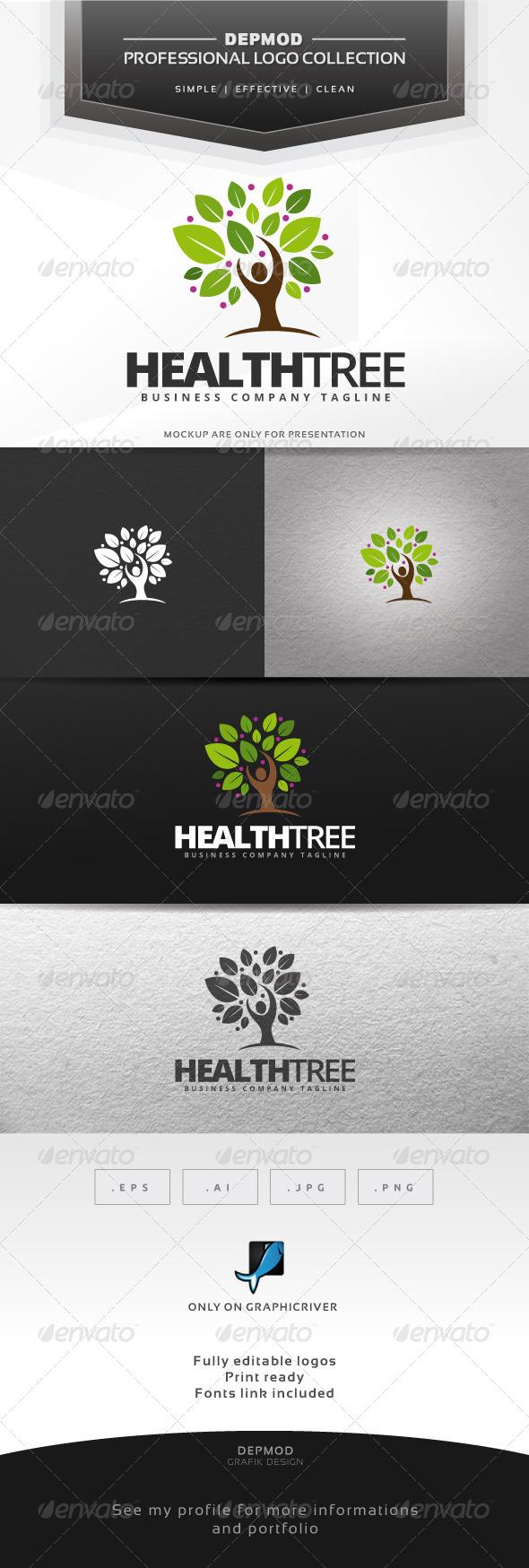 GraphicRiver Health Tree Logo 7066755