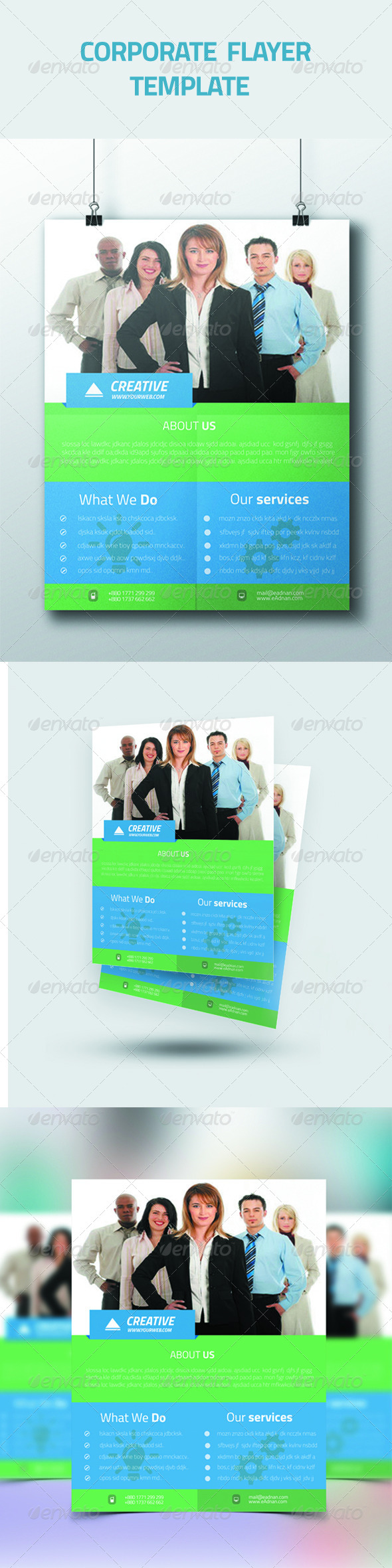 GraphicRiver Corporate Flayer Template 7066981