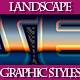 Set of Unique Landscape Graphic Styles for Design - GraphicRiver Item for Sale