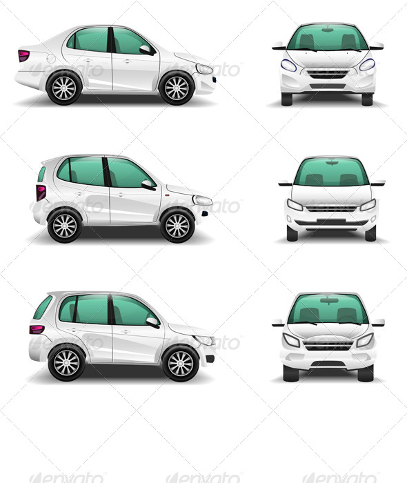 GraphicRiver Cars Set of Side and Front View 7067204