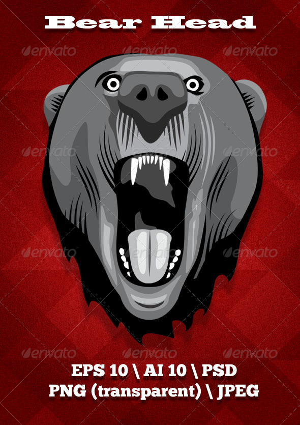 GraphicRiver Bear Head 7067210