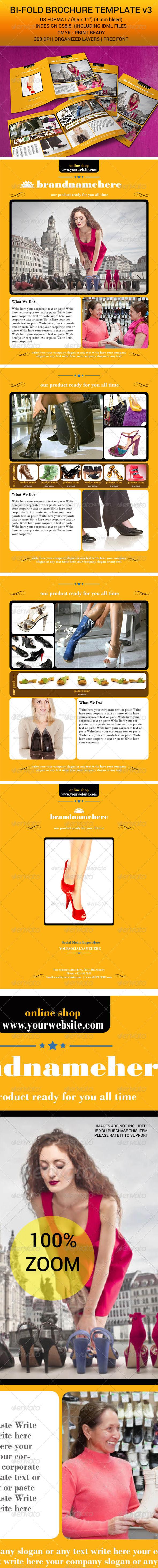 GraphicRiver Bi-Fold Brochure Indesign Template v3 7055319