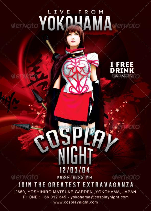 GraphicRiver Cosplay Night Yokohama Flyer 7067234