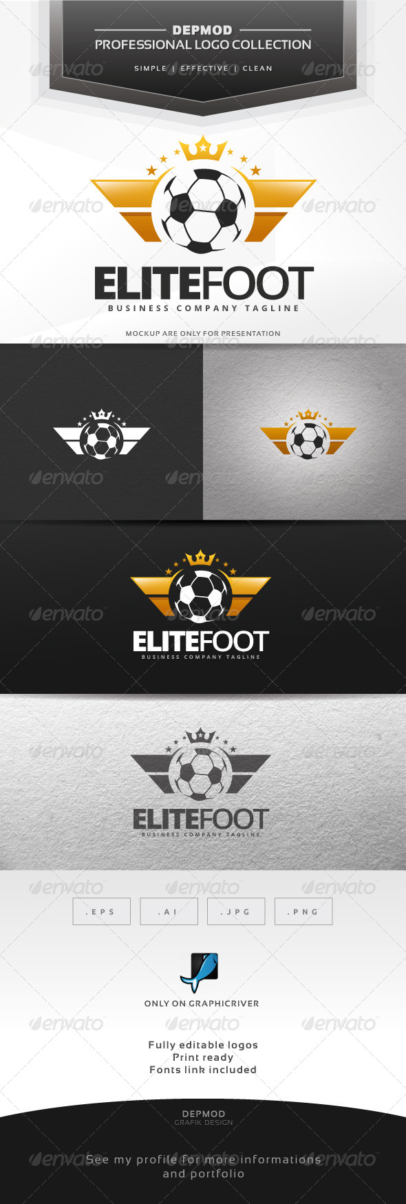 GraphicRiver Elite Foot Logo 7067279