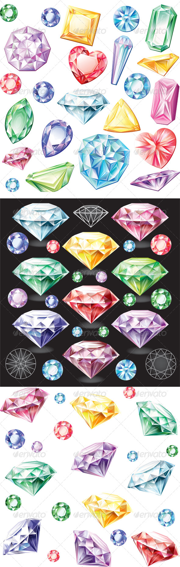 GraphicRiver Set of Stones of Different Cuts 7067353