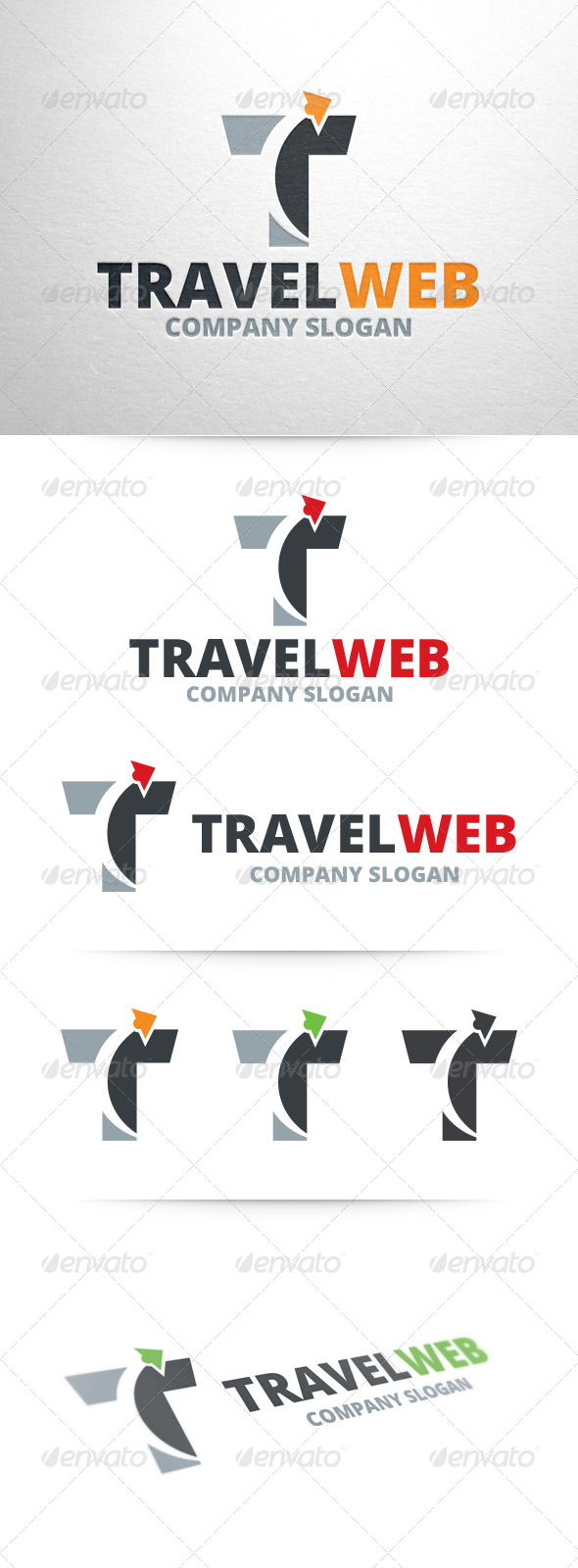 Travel Web Letter T Logo