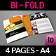 Company Brochure Insurance Bi-Fold Design Template - GraphicRiver Item for Sale