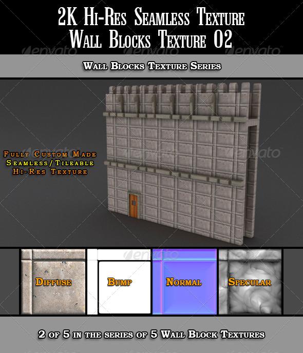 3DOcean Hi-Res 2k Wall Blocks Texture 02 7067621